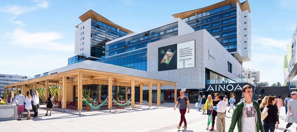 Clear Channel vastaa laajenevan Kauppakeskus AINOAn mainosmyynnistä