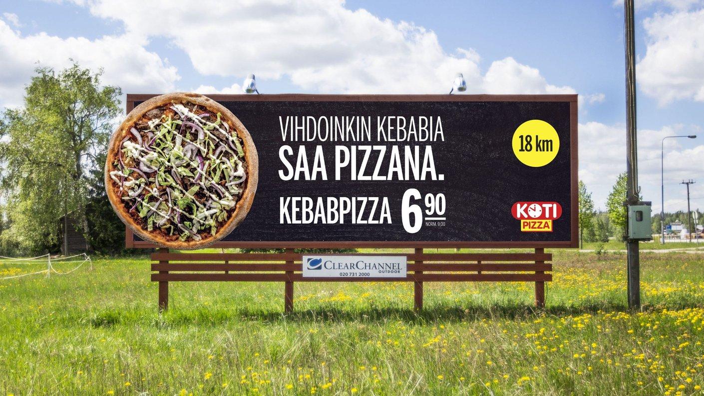 Kotipizzan kampanja herätti huomiota autoilijoiden kesken