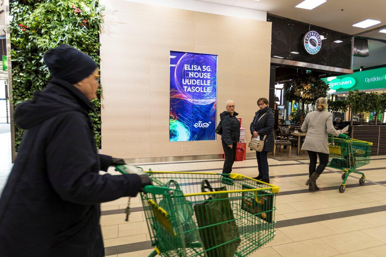 Kaari Shopping Wall (pysty, sisä)