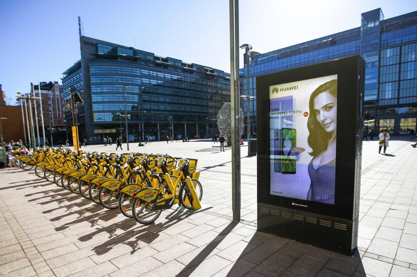 Keltainen on kevään merkki, sillä kaupunkipyörät ovat taas täällä