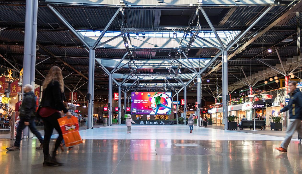 Mainosverkostomme Lempäälän Ideaparkissa laajenee