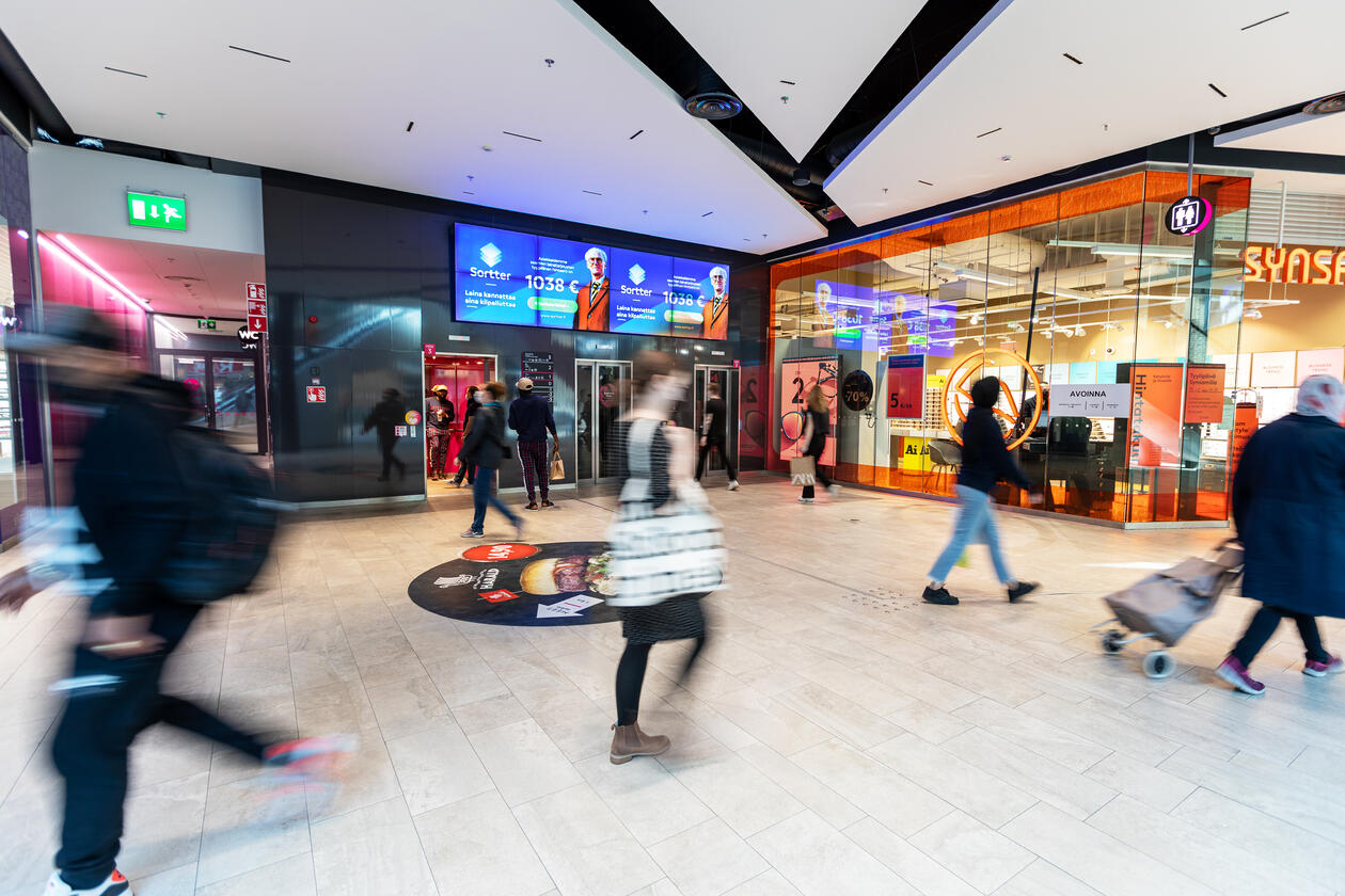 Iso-Omena Elevator Shopping Walls (vaaka)