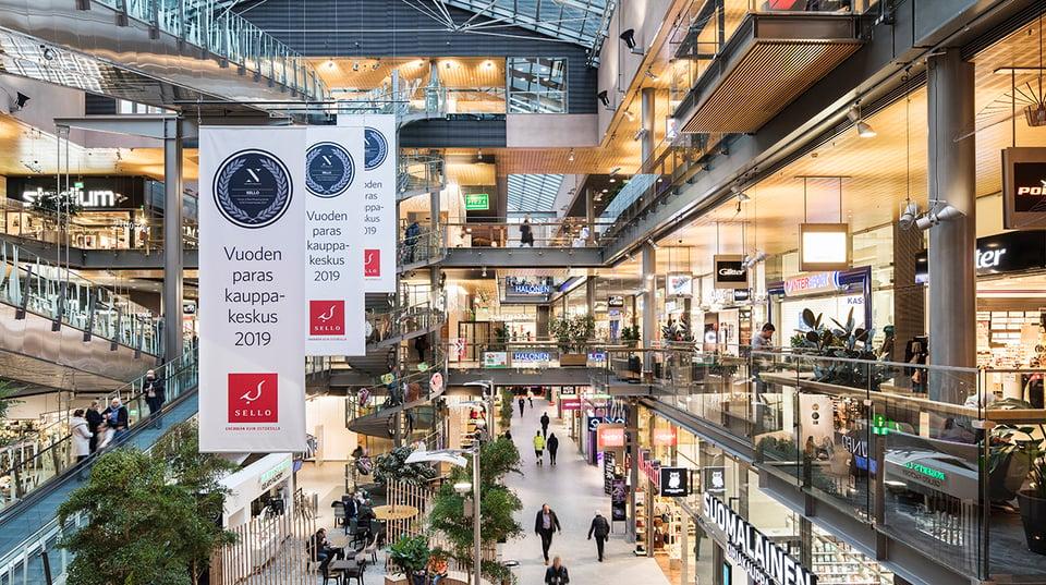 Sello on Suomen paras kauppakeskus 2019