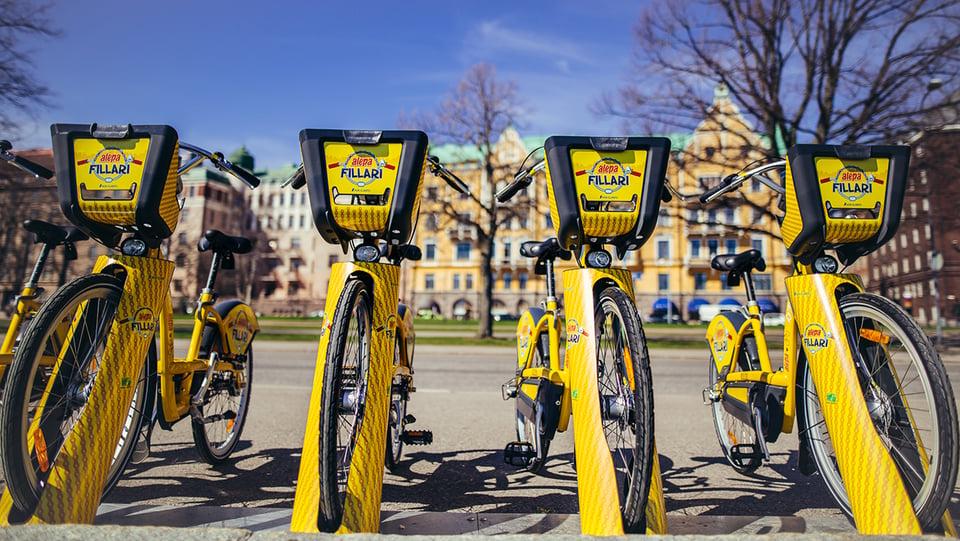 Kaupunkipyörät ovat osoitus älykkäästä kaupungista