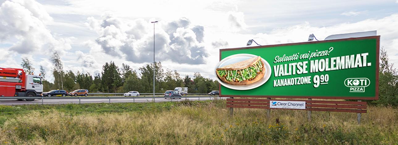Kotipizzan houkutteleva mainoskampanja