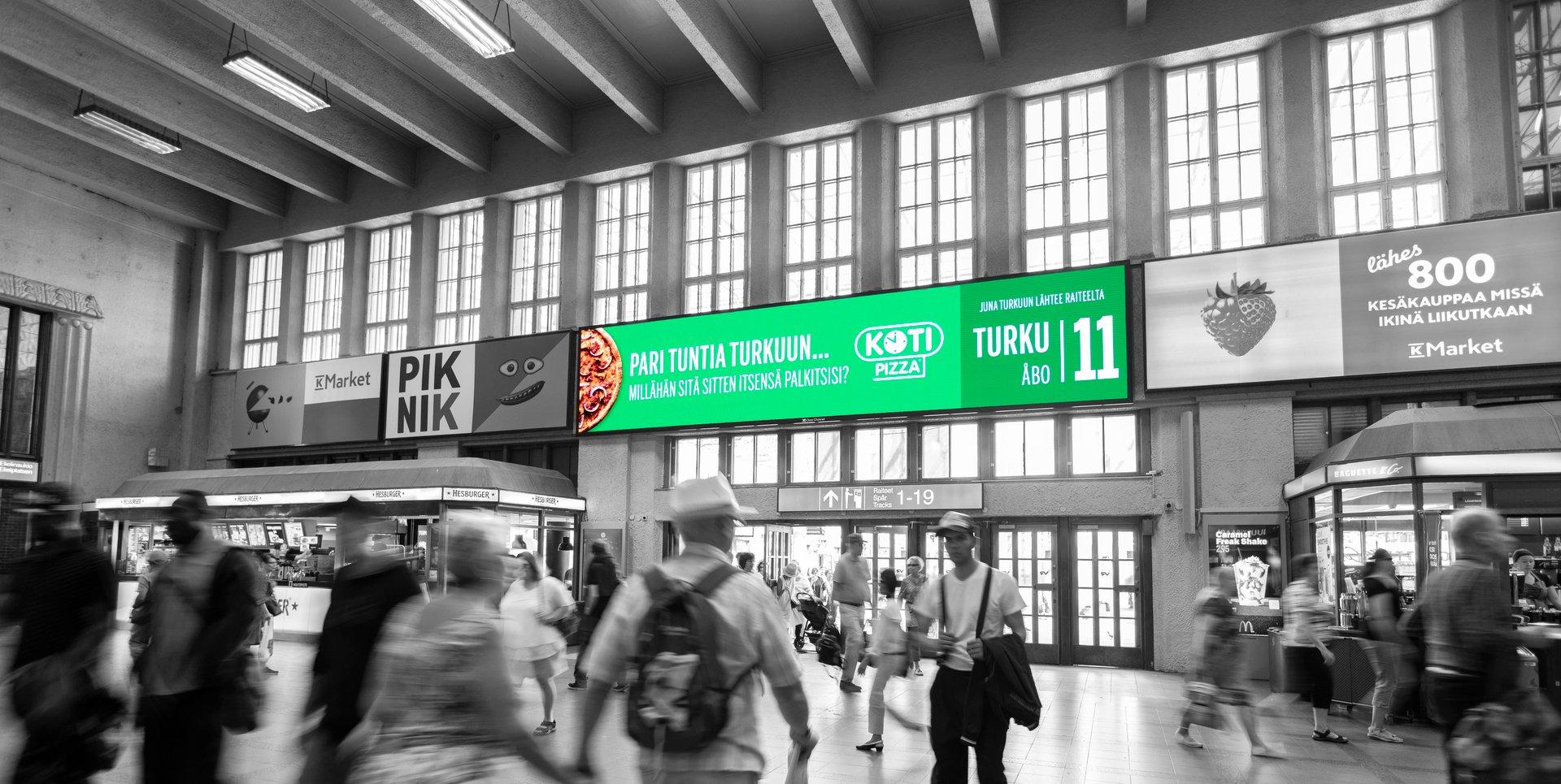 The Grand Central ulkomainosratkaisu