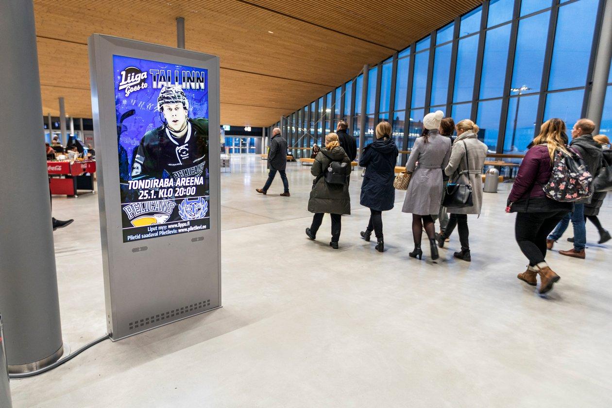Ports - West Terminal T2 Digital Vertical advertising display