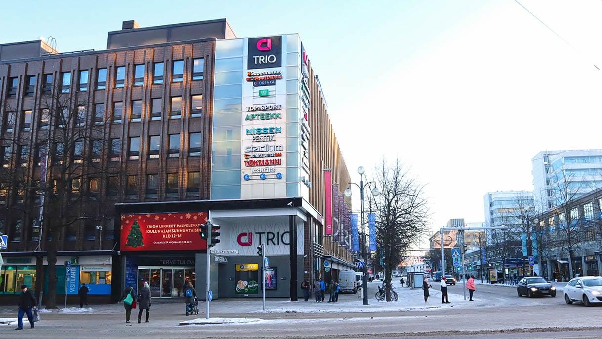 Trio Shopping Wall (horizontal, outdoor)