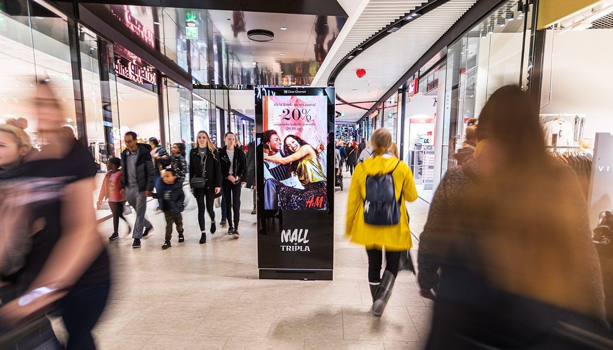 Suomen parhaimmat kauppakeskukset kuuluvat Clear Channelin kauppakeskusmedian verkostoon