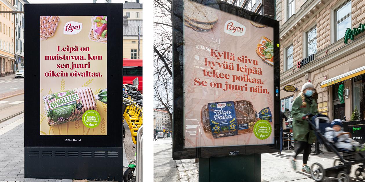 Pågenin houkutteleva ulkomainoskampanja Helsingissä