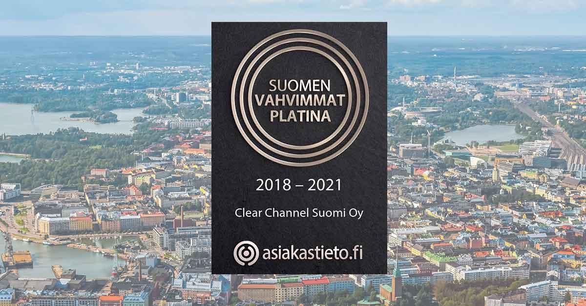 Clear Channel Jälleen Suomen Vahvimpien Joukkoon