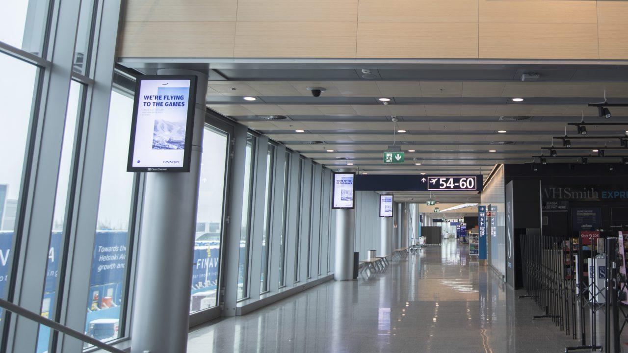 Staattinen mainos — airport