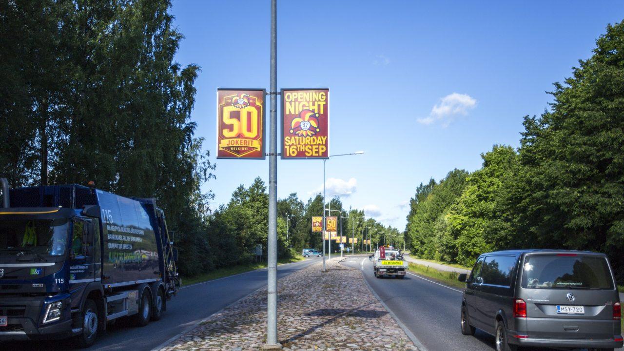Static — Lamppost banderols and lamppost panels