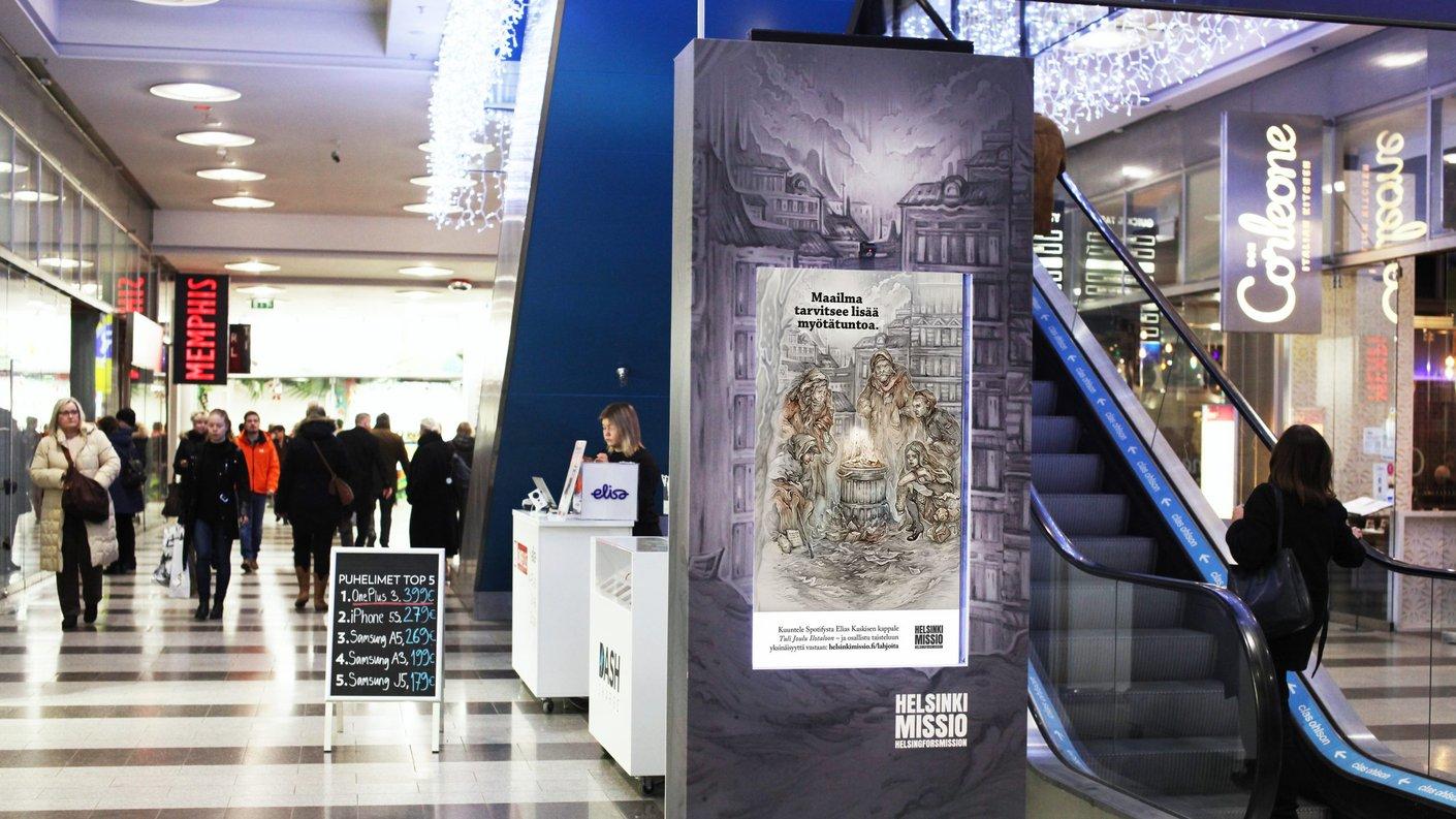 Helsinkimission joulukampanja puhuttelee kaupunkilaisia
