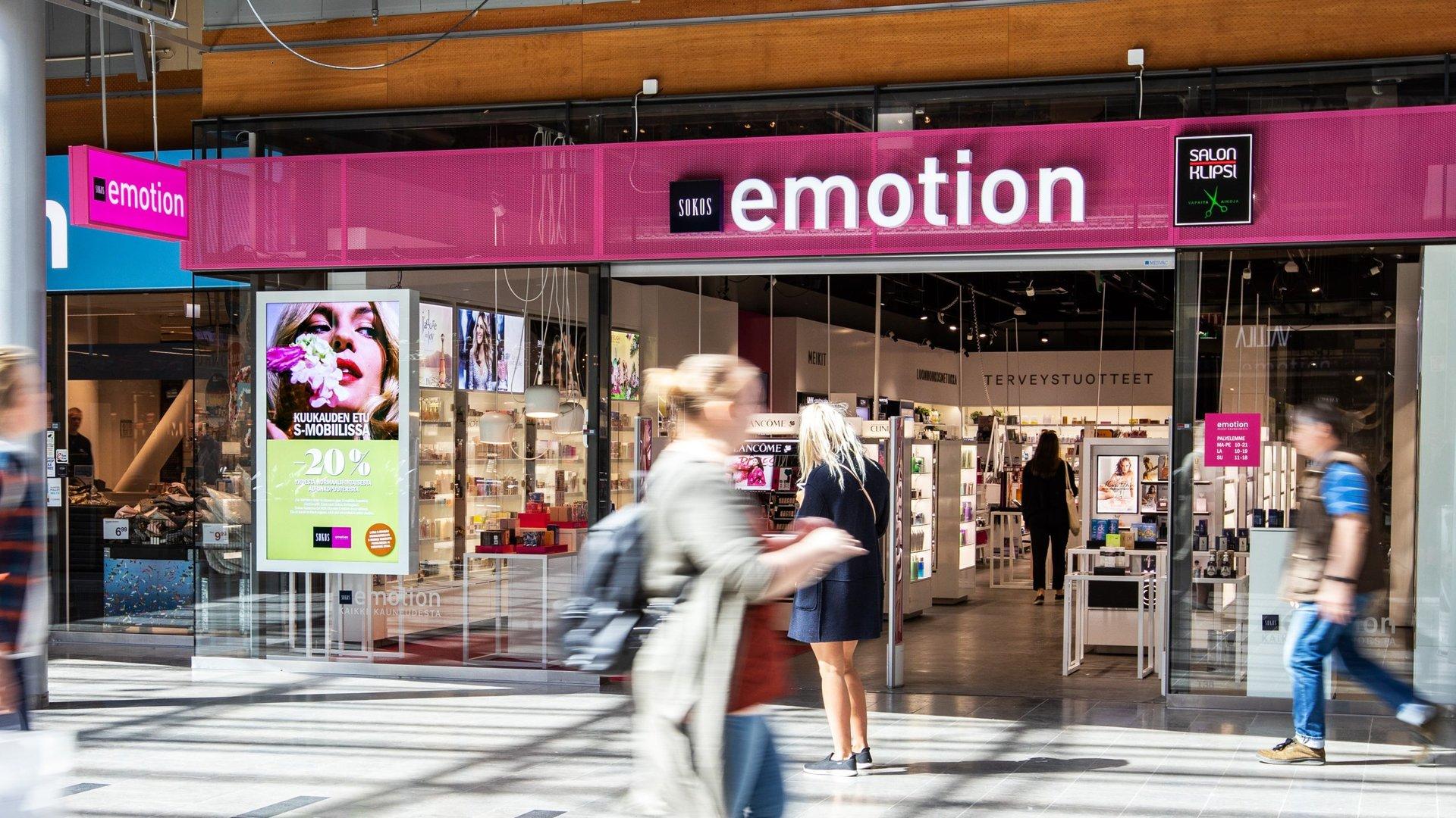 Sokos Emotion digitaalinen mainosratkaisu