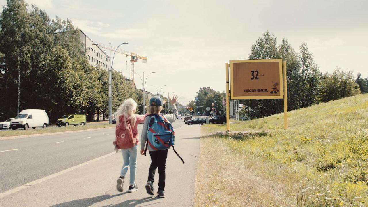 Oltermannin kampanja muistuttaa ajamaan varovasti