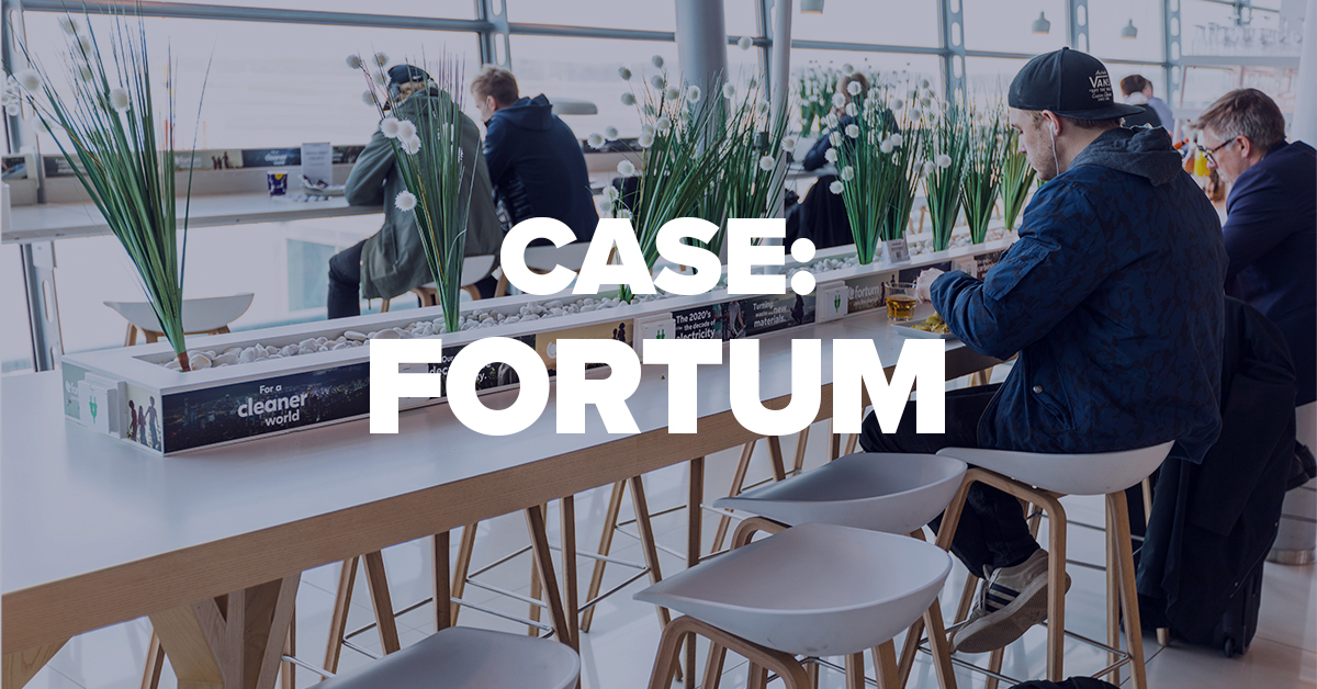 Fortum has been building brand at the airport for over 10 years