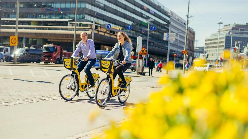 Kaupunkipyörät henkilöstöetuna tukevat työntekijöiden hyvinvointia