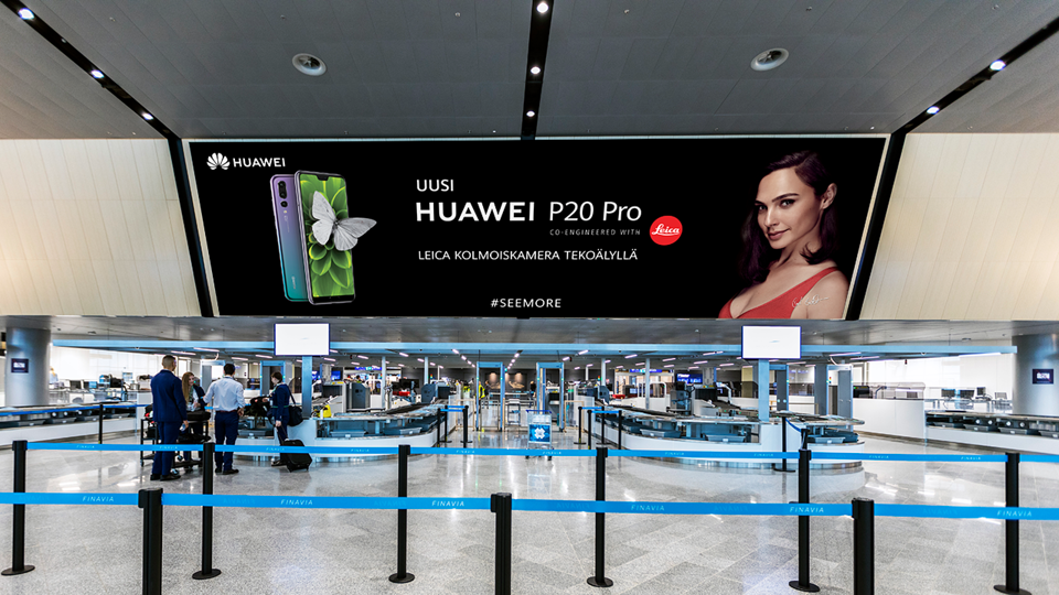 Valtavat mediapinnat mahdollistavat uudenlaisia brändielämyksiä Helsinki-Vantaan lentoaseman laajentuessa